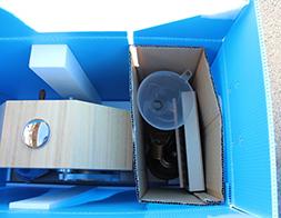 クッション性の高い発泡スチロールで衝撃を軽減し、配送中の破損を防ぎます